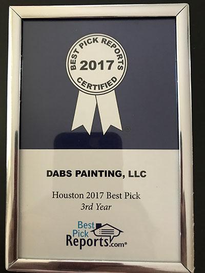 Best Painter in Houston Award